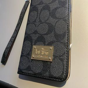 COACH iPhone XS Max wallet cellphone case
